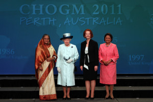 Does Bangladesh abide by the values of the Commonwealth Charter?